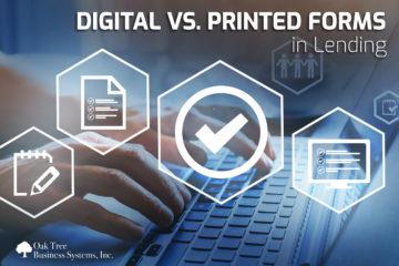 Credit Union Digital versus Printed forms for Lending